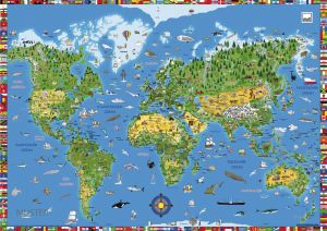 BLOTTING PAD podkładka Map of the World